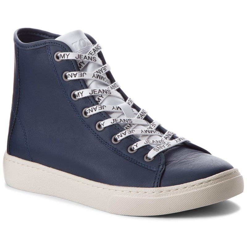 Sneakers TOMMY JEANS-Light Leather Mid EM0EM00104 Black Iris 431