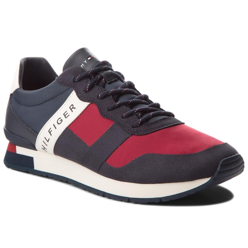 Sneakers TOMMY HILFIGER-Printed Material Mix Runner FM0FM01623 Rwb 020