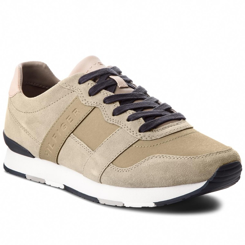 Sneakers TOMMY HILFIGER-City Casual Material Mix Runner FM0FM01624  Taupe 255
