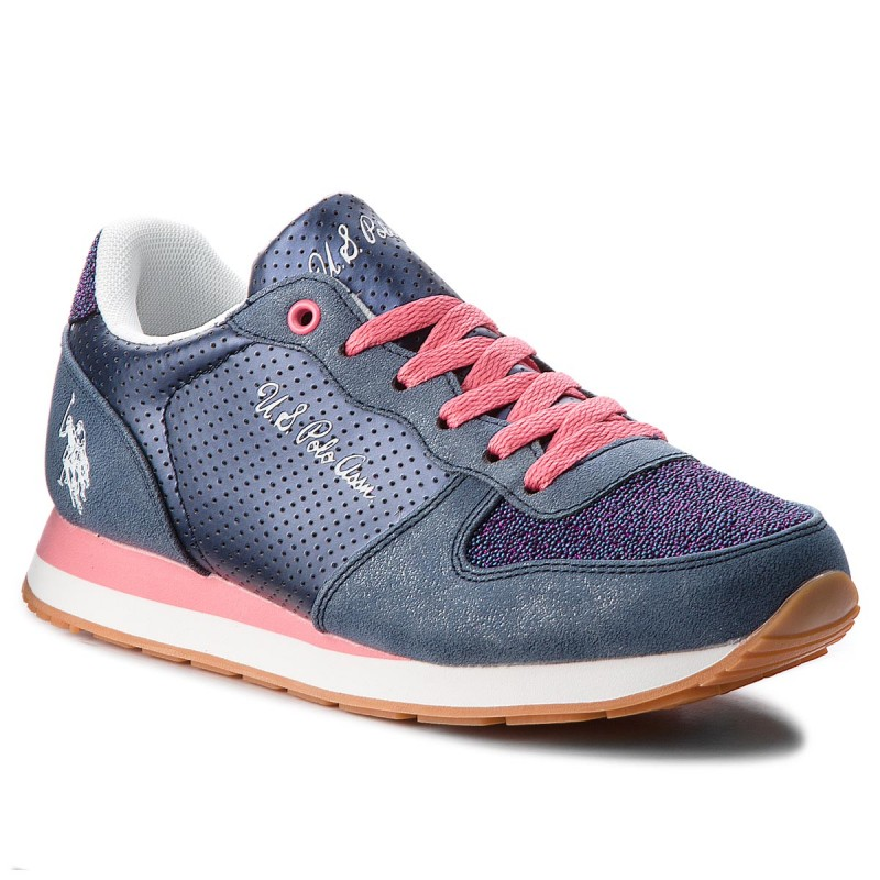 Sneakers US POLO ASSN-Silvana1 Club VIOLA4177W7/Y1 Dkbl/Pink