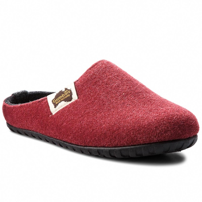 Hausschuhe GUMBIES-Outback Burgundy/Charcoal