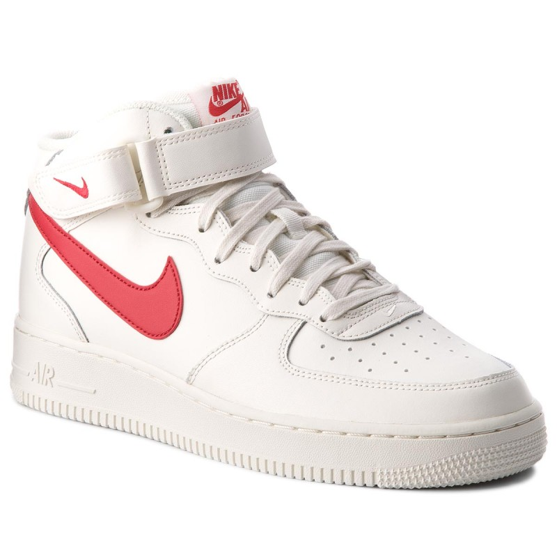 Schuhe NIKE-Air Force 1 Mid '07 315123 126 Sail/University Red