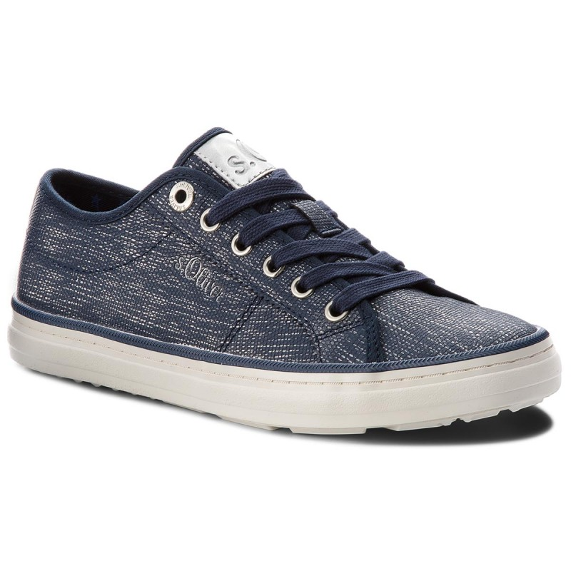 Turnschuhe SOLIVER-5-23640-20 Navy/Silver 894