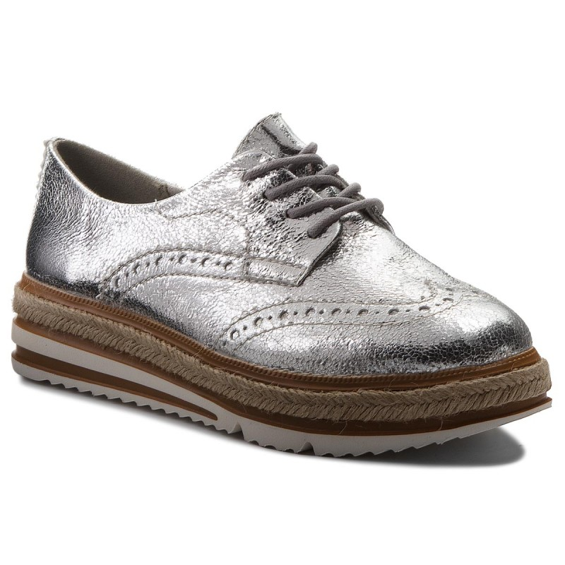 Oxfords TAMARIS-1-23709-20 Silver Crack 944