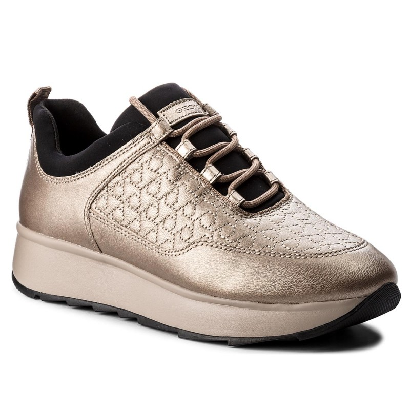 Sneakers GEOX-D Gendry C D845TC 0BVNF C9HQ6  Lead/Taupe