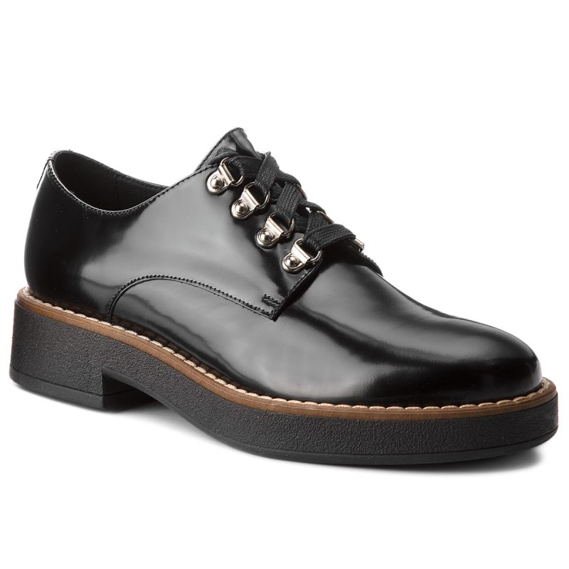 Oxfords GEOX-D Adrya C D849TC 00038 C0023 Black/Beige