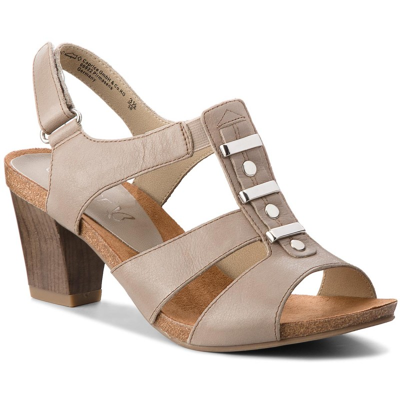 Sandalen CAPRICE-9-28309-20 Taupe Waxy Nap 358