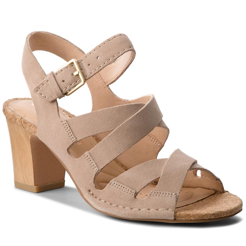 Sandalen CLARKS-Spiced Ava 261318304 Sand Suede