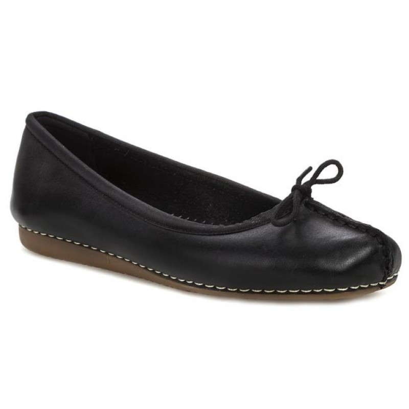 Ballerinas CLARKS-Freckle Ice 203529294 Black Leather