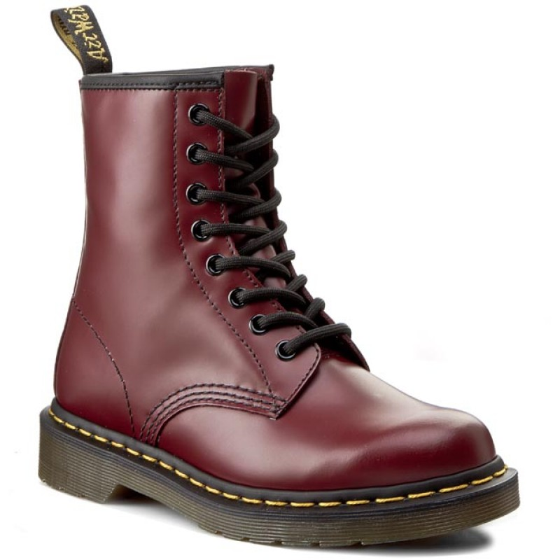 Springerstiefel DR MARTENS-1460 10072600 Cherry Red Smooth