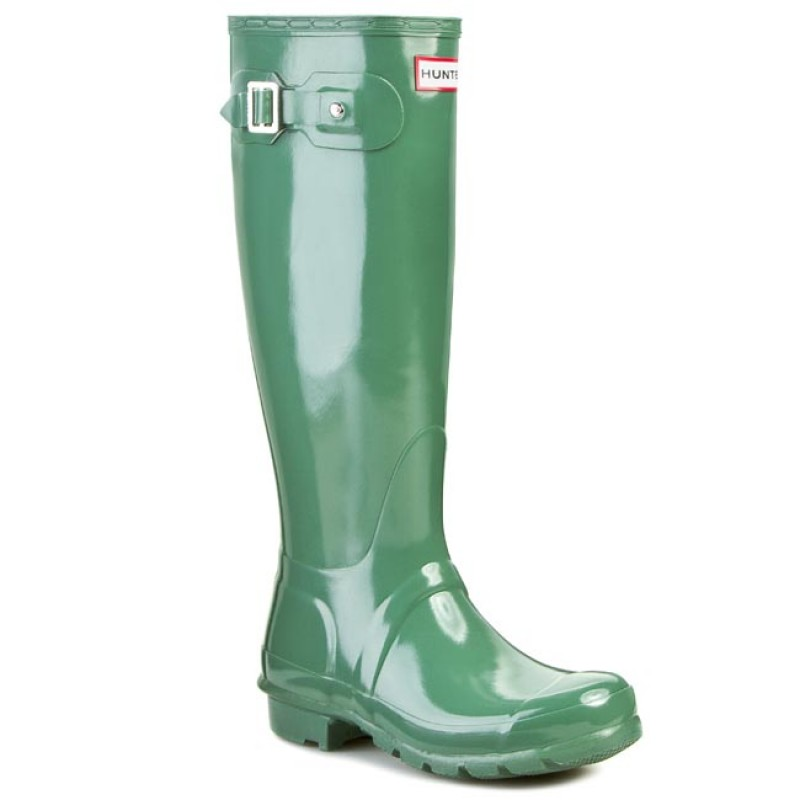 Gummistiefel HUNTER-Original Gloss W23616 Moss Green