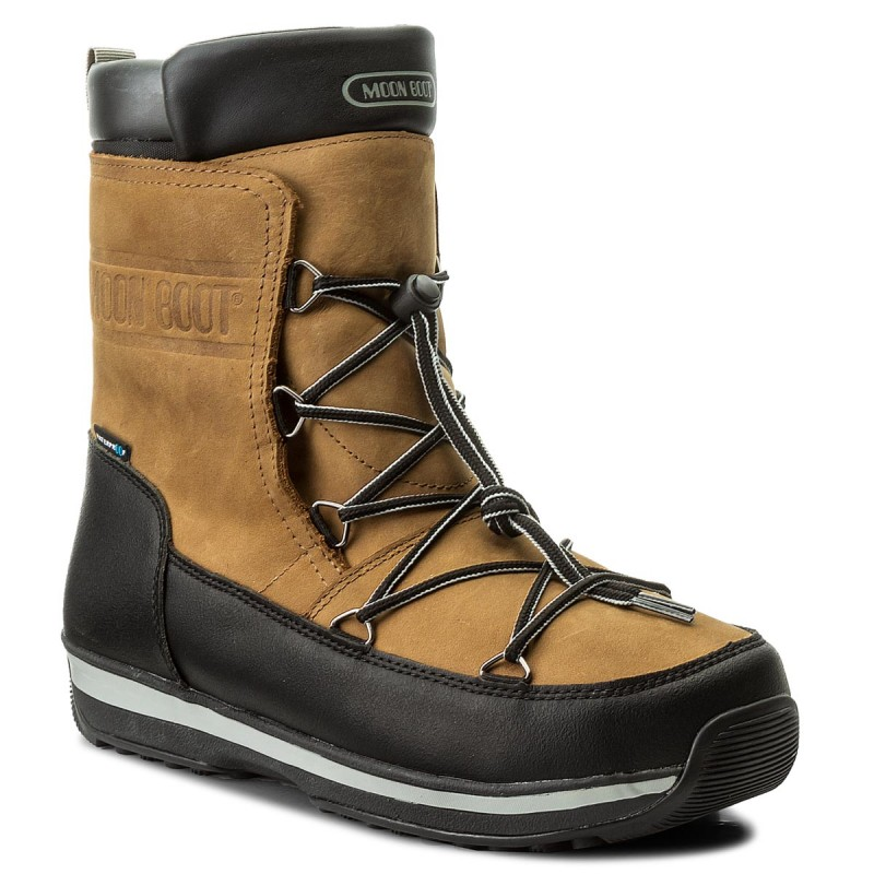 Schneeschuhe MOON BOOT-Lem Leather Wp 14201100001 Marrone/Nerro