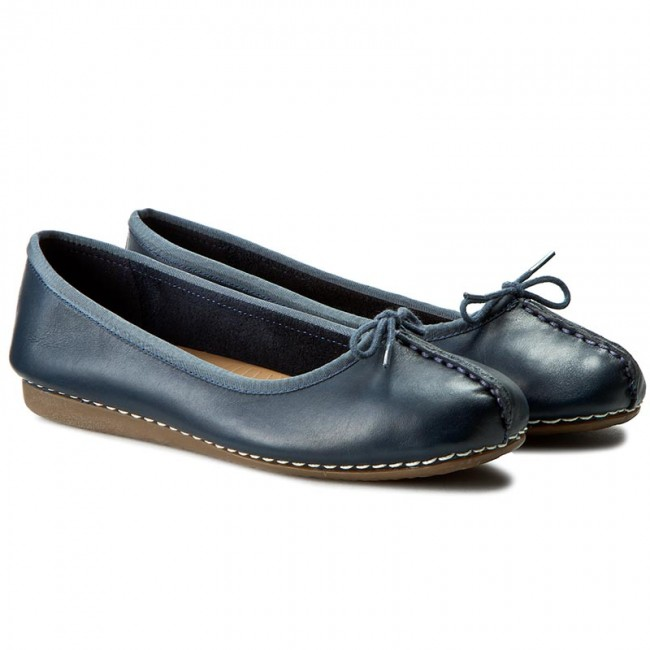 Ballerinas CLARKS Freckle Ice 203529324 Navy Leather