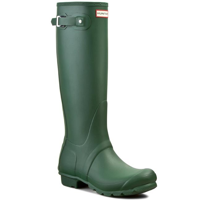 Gummistiefel HUNTER-Womens Org Tall WFT1000RMA Hunter Green Werbe Schuhe