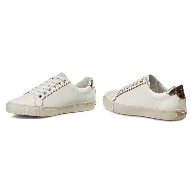 Sneakers TOMMY HILFIGER - Vali 5A FW56820833 Snow White/Gold 118