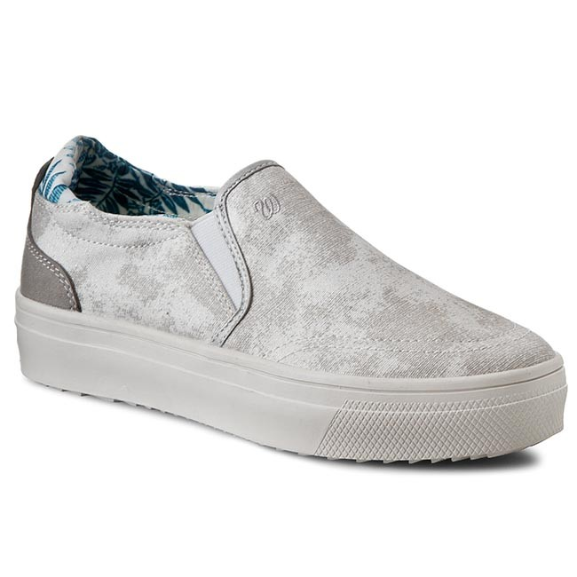 Turnschuhe WRANGLER Sheena Slip On Laminated WL161558 Silver 4