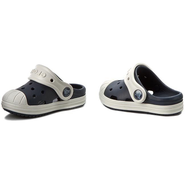 Pantoletten CROCS - Bump It Clog K 202282 Navy/Oyster FfgjaA