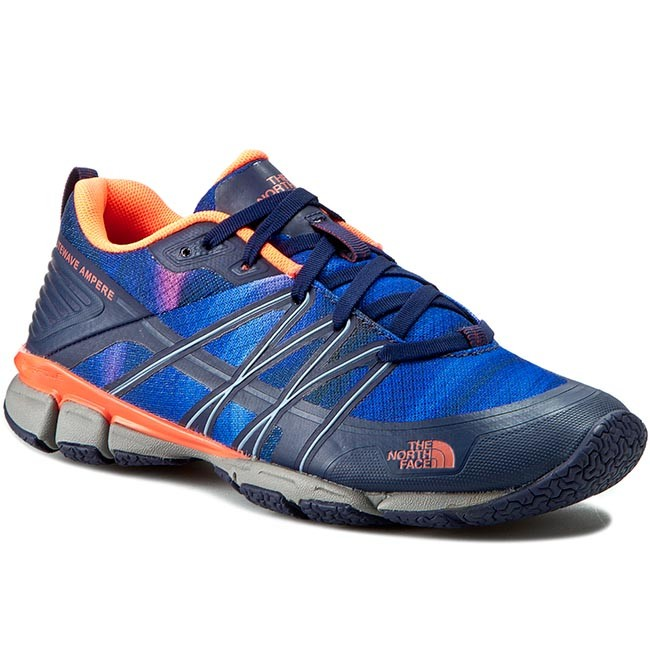 Schuhe THE NORTH FACE-Litewave Ampere T0CXU1GSL-050 Patriot Blue Print/Tropical Coral Werbe Schuhe
