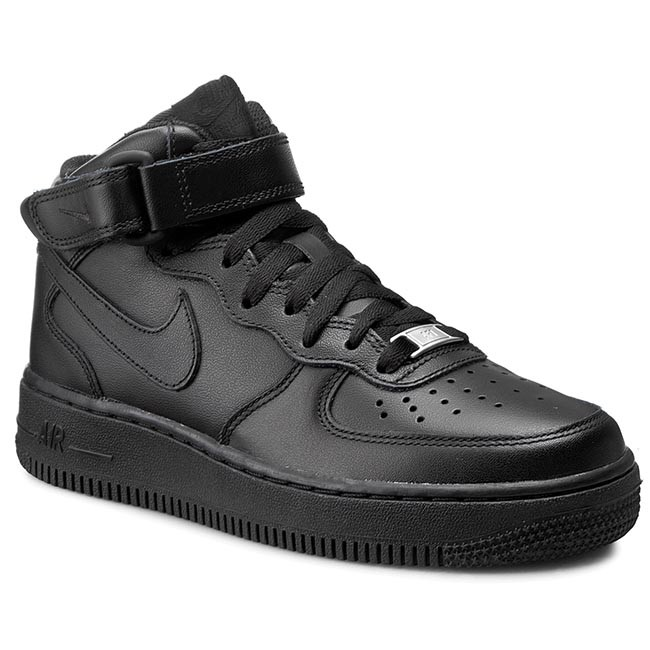 Schuhe NIKE Air Force 1 Mid '07 LE 366731 001 Black/Black