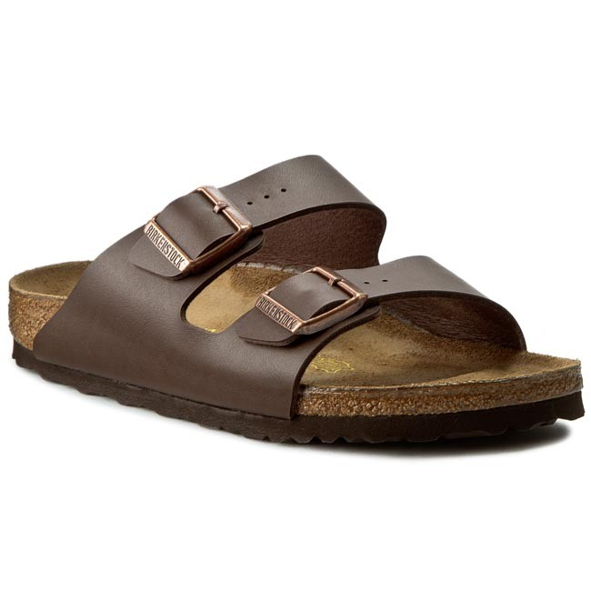 Pantoletten BIRKENSTOCK Arizona 0051703 Dark Brown