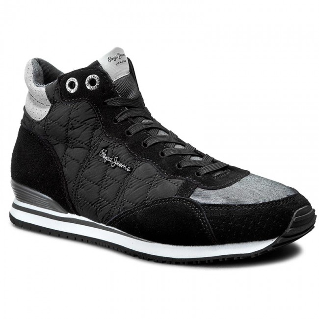 Sneakers PEPE JEANS-Gable Padding PLS30348 Black 999 Werbe Schuhe