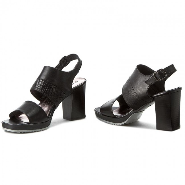 Sandalen TAMARIS  1-28034-36 Black Leather Leather Leather 003 00b36c