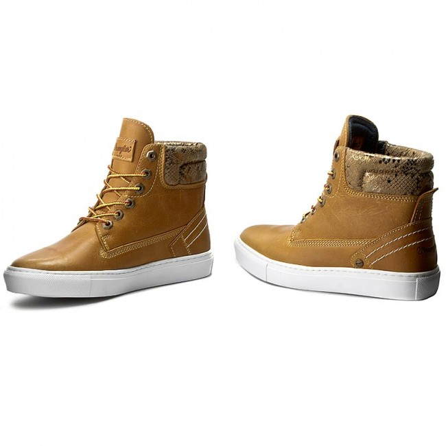 Sneakers WRANGLER  Historic WL162560 Tan Tan Tan Yellow 24 2ba8c5