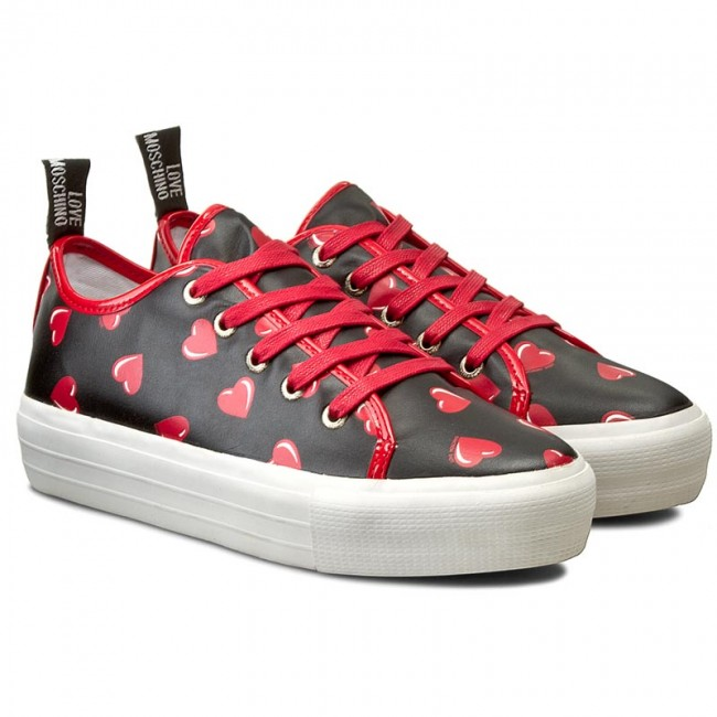 Sneakers LOVE MOSCHINO                                                      JA15034G11IG000A Nero/Rosso 11bebe