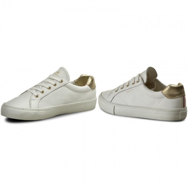 Sneakers GANT - Alice 14531632 Bright Wht. Gold G292 - Sneakers ... a7d40521afabe