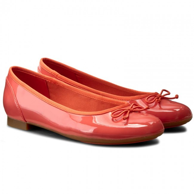 Ballerinas  CLARKS     Ballerinas                                                Couture Bloom 261227794 Coral Patent 10c371