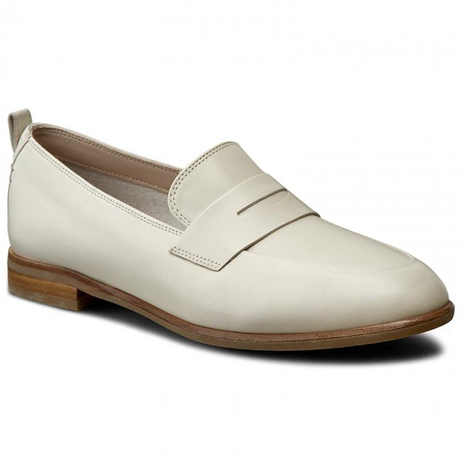 Halbschuhe CLARKS Alania Belle 261230404 White Leather