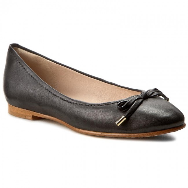 Ballerinas CLARKS Grace Lily 261230524 Black Leather