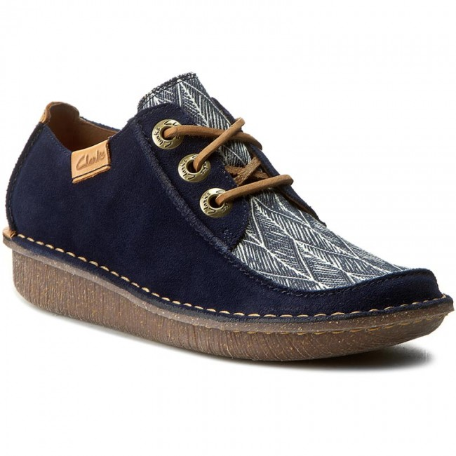 Halbschuhe CLARKS                                                      Funny Dream 261237534 Navy Interest 64e339