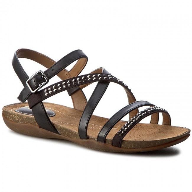 Sandalen CLARKS Autumn Peace 26123798 Black Leather
