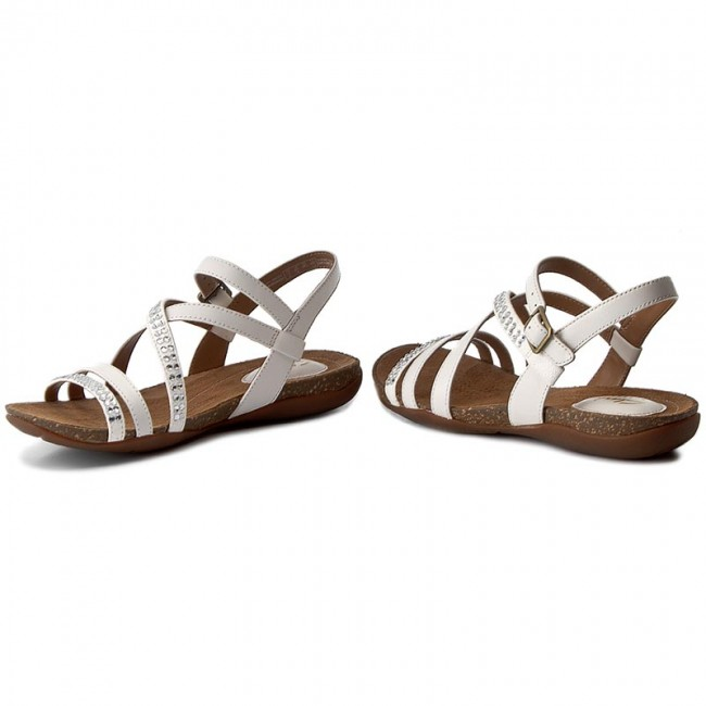 Sandalen CLARKS - Autumn Peace 261238004 White Leather