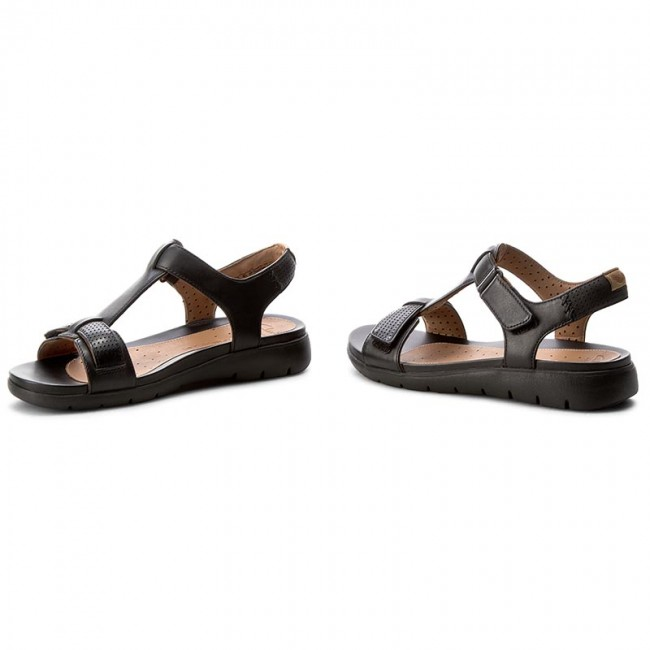 Sandalen CLARKS Un Haywood 261240574 Black Leather