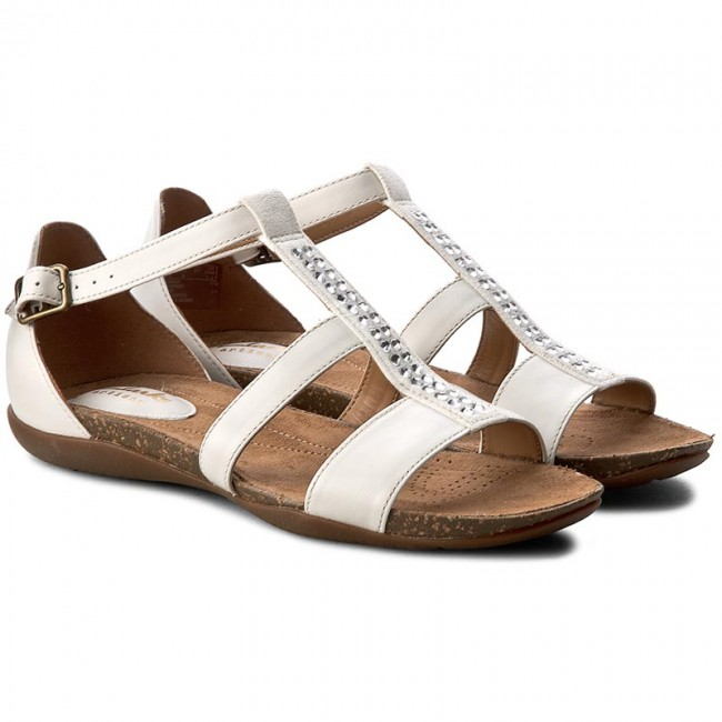Sandalen CLARKS                                                      Autumn Fresh 261259094 White Combi Leather cfd271