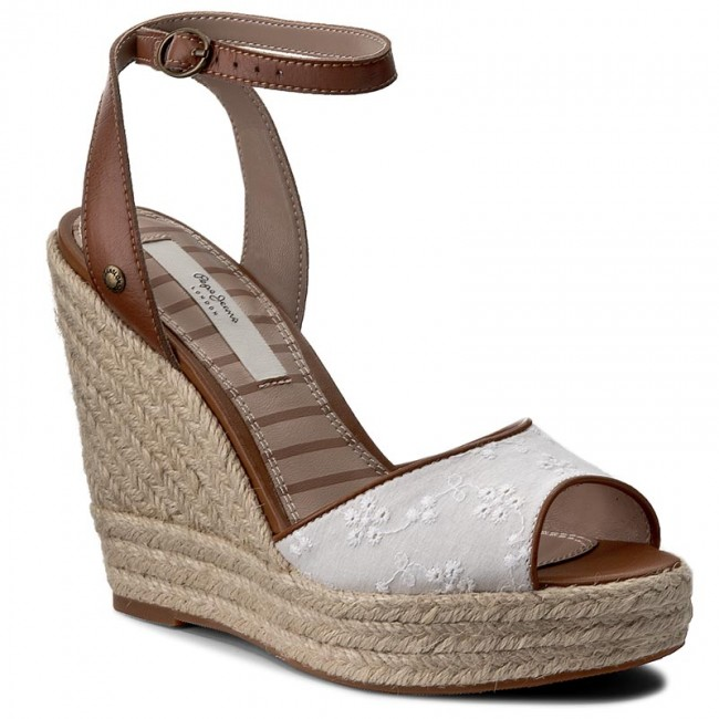 Espadrilles PEPE JEANS                                                      Walker Anglaise 17 PLS90226 Weiß 800 fb361f