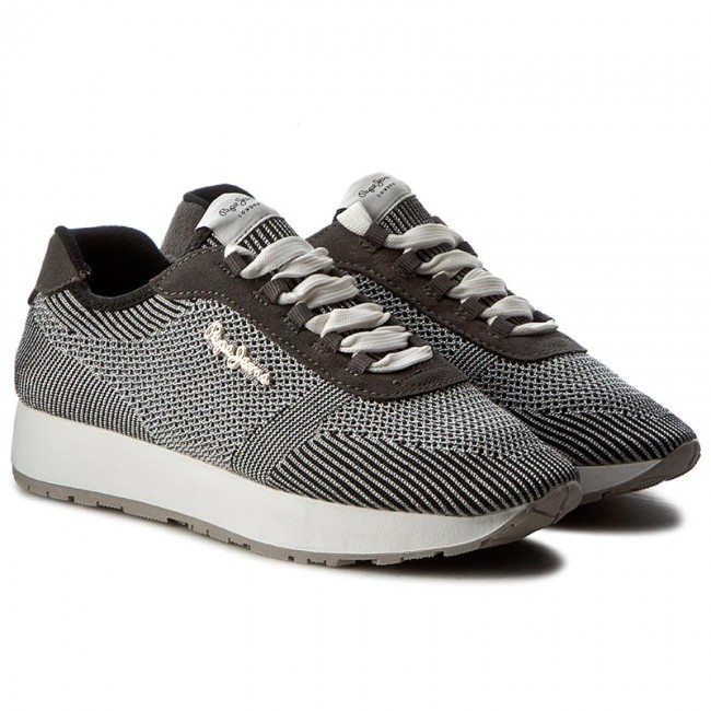 Sneakers Sneakers Sneakers PEPE JEANS-Sally Fishnet PLS30490 Chrome 952 Werbe Schuhe 04c3a7