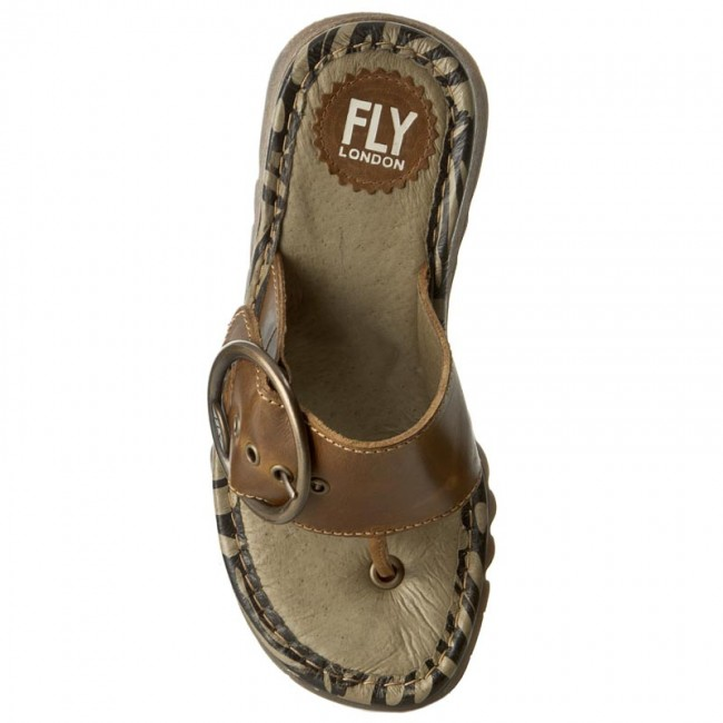 Zehentrenner FLY LONDON       LONDON                                               Trim P500453022 Camel f56928