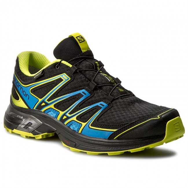 Schuhe SALOMON-Wings Flyte 2 Gtx GORE-TEX 390301 27 W0 Black/Bright Blue/Gecko Green