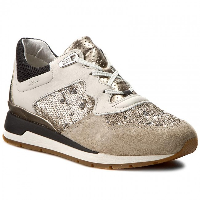 Sneakers GEOX D Shahira B D62N1B 085AT C1181 Off White/Lt Taupe