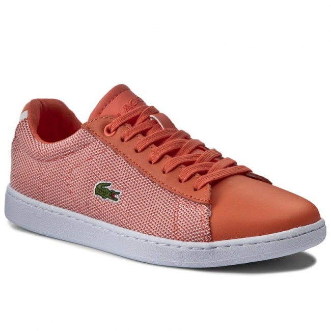 Sneakers LACOSTE-Carnaby Evo 117 1 7-33SPW1010M2W Org/Wht Werbe Schuhe