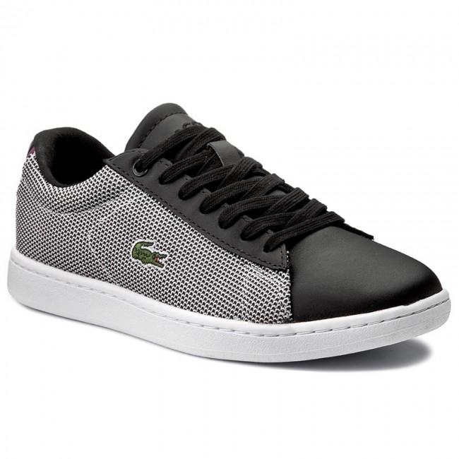 Sneakers LACOSTE-Carnaby Evo 117 1 Spw 7-33SPW1010312 Blk/Wht Werbe Schuhe