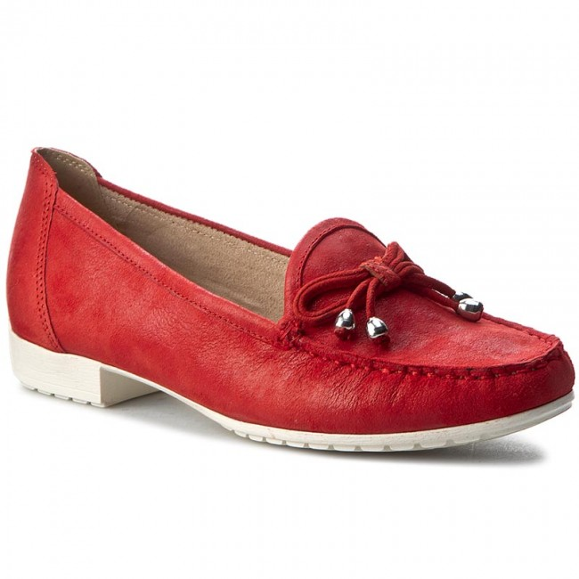 Mokassins CAPRICE 9-24610-28 Red Suede Comb 533
