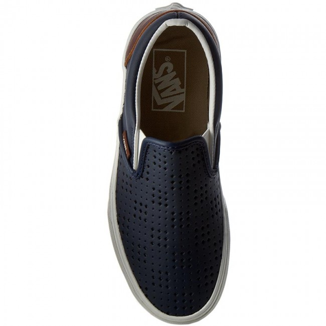 Turnschuhe VANS-Classic Dress Slip-On VN0A38F7MU3 (Leather Perf) Dress VANS-Classic Blue Werbe Schuhe 04ec55