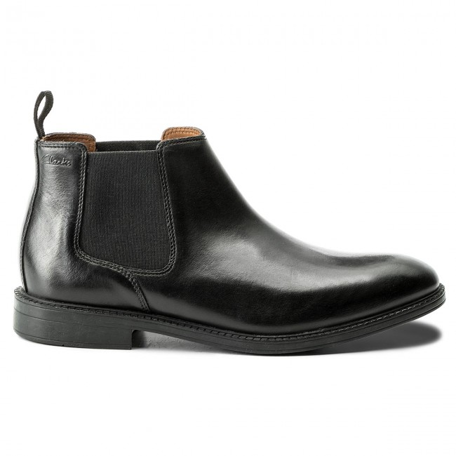Stiefeletten Leather CLARKS-Chilver Top 261109277 Black Leather Stiefeletten 9b90af