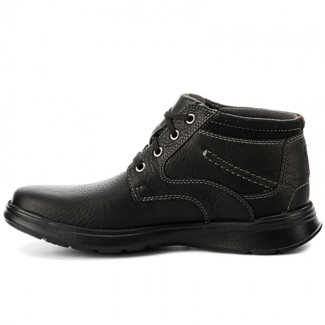 Schnürschuhe CLARKS-Cotrell Rise Black 261196127 Black Rise Oily Leather bd6368
