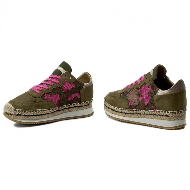 Espadrilles PHILIPPE MODEL Saint Tropez SALD CO04 Cam Pink/Musk/Brown