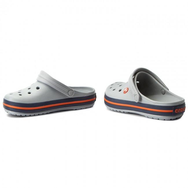 Pantoletten CROCS  11016 Crocband 11016  Light Grey/Navy b266dd